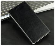 Кожаный черный чехол для Meizu MX 4